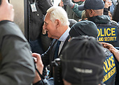 Former adviser to United States President Donald J. Trump, Roger Stone, arrives at the US District Court in Washington, DC to be arraigned on an indictment brought by special counsel Robert Mueller on January 29, 2019.  The allegations against the longtime Trump associate say he sought stolen emails from WikiLeaks that could potentially damage Trump's opponents while working in coordination with senior Trump campaign officials.<br /> Credit: Ron Sachs / CNP<br /> (RESTRICTION: NO New York or New Jersey Newspapers or newspapers within a 75 mile radius of New York City)