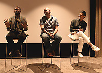 """LOS ANGELES, CA - AUGUST 16:  David Oyelowo, Jacob Estes and Byron Mann at the Ava Duvernay Hosted Special Screening of the Blumhouse film """"Don't Let Go"""" at the Amanda Theater at Array Creative Campus on August 16, 2019 in Los Angeles, California. (Photo by Scott Kirkland/Blumhouse/PictureGroup)"""