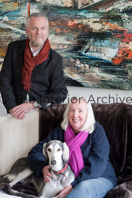 John Monks and Sue Herbert in their living room