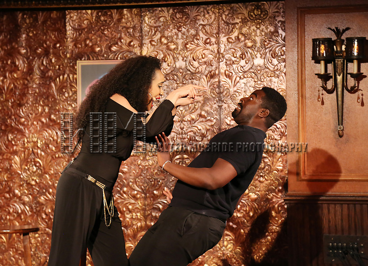 Nicole Vanessa Ortiz and Kyle Taylor Parker during the Press Preview Presentation for the new production of 'Smokey Joe's Cafe' at Feinstein's/54 Below on June 27, 2018 in New York City.