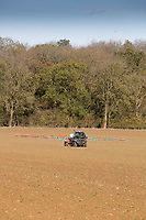 Applying Avadex Granules with a John Deere Gator <br /> Picture Tim Scrivener 07850 303986<br /> &hellip;.covering agriculture in the UK&hellip;.