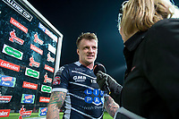 Picture by Allan McKenzie/SWpix.com - 11/05/2017 - Rugby League - Ladbrokes Challenge Cup - Featherstone Rovers v Halifax RLFC - The LD Nutrition Stadium, Featherstone, England  - Featherstone's Anthony Thackeray is interviewed after winning the Ladbrokes Man of the Match award.