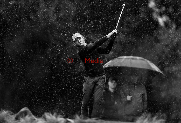 Brad Shilton during the Barfoot and Thompson Charles Tour, Akarana Open, Akarana Golf Club, Auckland, Sunday 17  April 2016. Photo: Simon Watts/www.bwmedia.co.nz