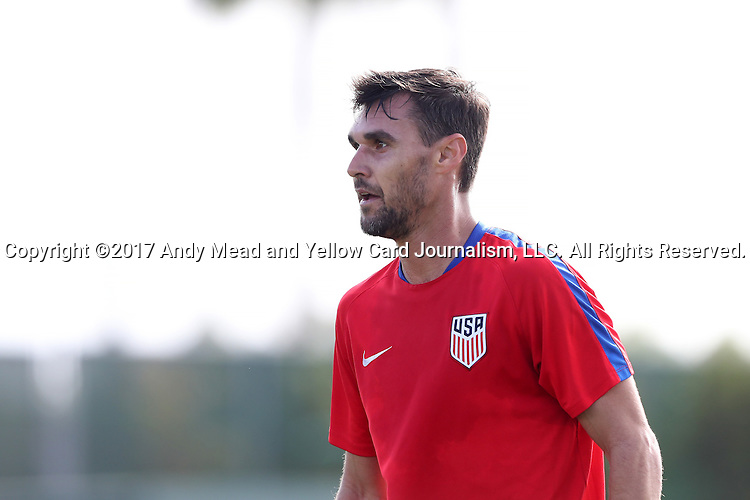 11 January 2017: Chris Wondolowski. The United States Men's National Team held their first training session under new head coach Bruce Arena on The Murphy Family Field at the StubHub Center in Carson, California.