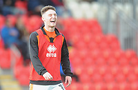Blackpool's Jordan Thompson during the pre-match warm-up <br /> <br /> Photographer Kevin Barnes/CameraSport<br /> <br /> Emirates FA Cup First Round - Exeter City v Blackpool - Saturday 10th November 2018 - St James Park - Exeter<br />  <br /> World Copyright &copy; 2018 CameraSport. All rights reserved. 43 Linden Ave. Countesthorpe. Leicester. England. LE8 5PG - Tel: +44 (0) 116 277 4147 - admin@camerasport.com - www.camerasport.com