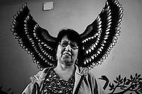 Ann Rodriguez at her residence in Kolkata.