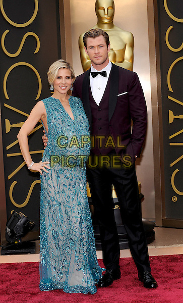 HOLLYWOOD, CA - MARCH 2: Elsa Pataky, Chris Hemsworth arriving to the 2014 Oscars at the Hollywood and Highland Center in Hollywood, California. March 2, 2014. <br /> CAP/MPI/COR99<br /> &copy;COR99/MediaPunch/Capital Pictures