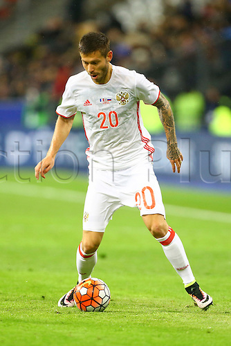 29.03.2016. Stade de France, Paris, France. International football friendly. France versus Russia.  Fedor Smolov (Rus)