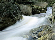 Water chute along Harvard Brook in Lincoln, New Hampshire USA.  This brook is located on the side of the Georgiana Falls Path.