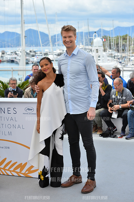 Thandie Newton &amp; Joonas Suotamo at the photocall for &quot;Solo: A Star Wars Story&quot; at the 71st Festival de Cannes, Cannes, France 15 May 2018<br /> Picture: Paul Smith/Featureflash/SilverHub 0208 004 5359 sales@silverhubmedia.com
