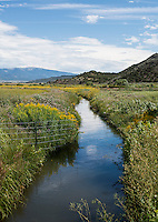 The People's Ditch in San Luis, Colorado, Monday, August 17, 2015. The People's Ditch is the oldest continually used ditch in Colorado. The People's Ditch was initially a shallow hand-dug irrigation channel. Later, oxen pulling a plow widened and extended the ditch. Operating under Water District 24 of Division 3, the People's Ditch holds the first adjudicated water rights in Colorado.<br /> <br /> Photo by Matt Nager