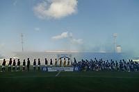 MACEIÓ, AL, 10.11.2018 - CSA-ATLETICO-GO - Times perfilados dirante partida CSA contra o Atlético-GO, em jogo válido pela 36ª rodada do Campeonato Brasileiro B 2018, no Estádio Rei Pelé, em Maceió, neste sábado, 10.  (Foto: Alisson Frazão/Brazil Photo Press)