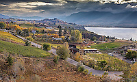 Fine Art Landscape Photograph of the beautiful vineyards, mountains, and lakes that are located in the Okanagan valley of British Columbia, Canada.