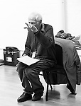 """King Lear"" rehearsed reading rehearsals. Old Vic Theatre. Director: Jonathan Miller. Jonathan Miller."