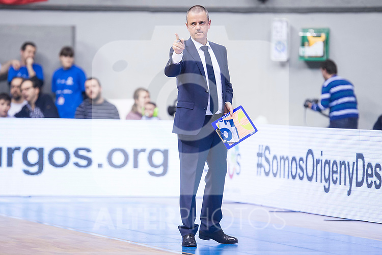 Gipuzkoa Basket coach Porfirio Fisac during Liga Endesa match between San Pablo Burgos and Gipuzkoa Basket at Coliseum Burgos in Burgos, Spain. December 30, 2017. (ALTERPHOTOS/Borja B.Hojas)