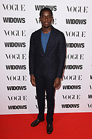 "Damson Idris<br /> arriving for the ""Widows"" special screening in association with Vogue at the Tate Modern, London<br /> <br /> ©Ash Knotek  D3457  31/10/2018"