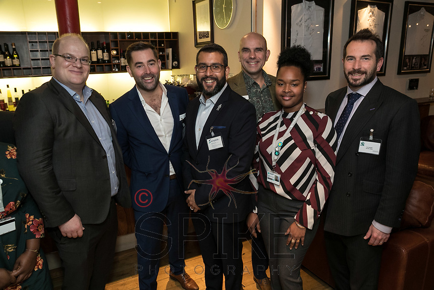 Pictured from left are Ewan Carr of Buckles, Will Bottomley of NG1 City Cleaners, Deviesh Raikundalia of Springfields, Andy Churchill of Earl & Pelham, Yasmine Maiyara Santana of Nottingham College and Paul Wright of Quartz Legal
