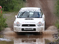 Tristan Pye / Stewart Merry at the watersplash on Special Stage 5 Heathhall of the 2012 RSAC Scottish Rally supported by Dumfries and Galloway Council, Round 5 of the RAC MSA Scottish Rally Championship which was based in Dumfries on 30.6.12.