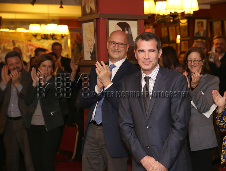 Joe Ortmeyer and Mike Isaacson attends the The Robert Whitehead Award presented to Mike Isaacson at Sardi's on May 10, 2017 in New York City.
