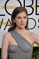 Anna Kendrick at the 74th Golden Globe Awards  at The Beverly Hilton Hotel, Los Angeles USA 8th January  2017<br /> Picture: Paul Smith/Featureflash/SilverHub 0208 004 5359 sales@silverhubmedia.com