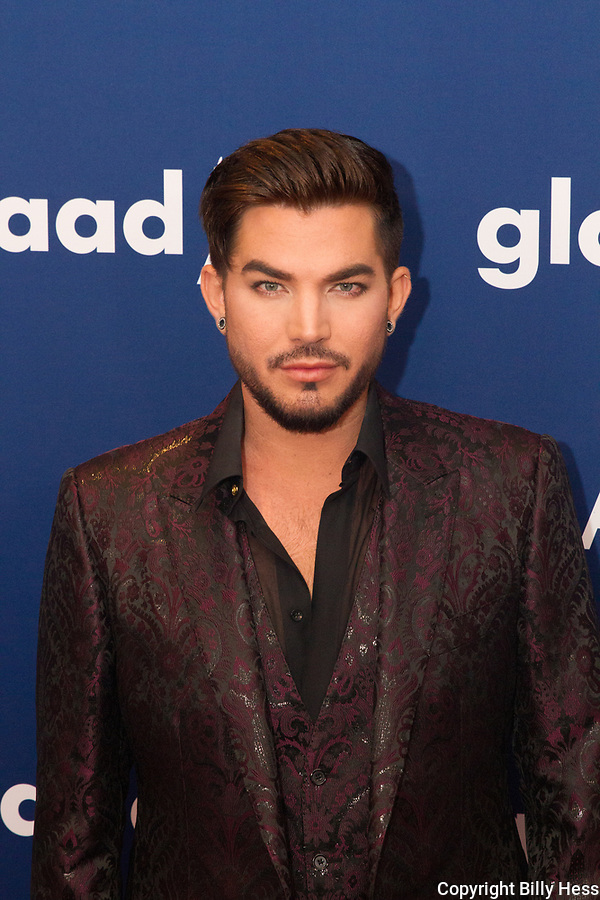 2018 GLAAD Awards Mid town Hilton NY Adam Lambert