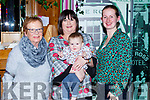 Brian Walsh-Barbosa Tangara da Serra, Brazil and his mum Nadine with his grandmother Orla Walsh Tralee and great grandmother Maura Walsh celebrating womens Xmas in the Ross Hotel Killarney on Saturday night