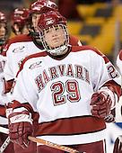 Brendan Byrne (Harvard - 29) - The Northeastern University Huskies defeated the Harvard University Crimson 3-1 in the Beanpot consolation game on Monday, February 12, 2007, at TD Banknorth Garden in Boston, Massachusetts.