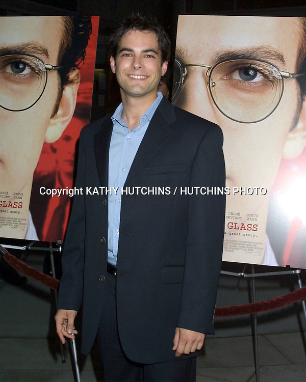 """©2003 KATHY HUTCHINS/ HUTCHINS PHOTO AGENCY.PREMIERE OF """"SHATTERED GLASS"""".ARC LIGHT THEATERS.HOLLYWOOD,  CA.OCTOBER 19, 2003..JAMIE ELMAN"""