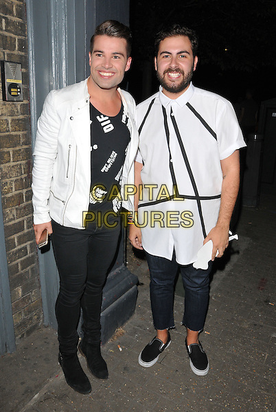 LONDON, ENGLAND - JULY 23: Joe McElderry &amp; Andrea Faustini attend the RUComingOut.com summer party, Royal Vauxhall Tavern, Kennington Lane, on Thursday July 23, 2015 in London, England, UK.  <br /> CAP/CAN<br /> &copy;Can Nguyen/Capital Pictures