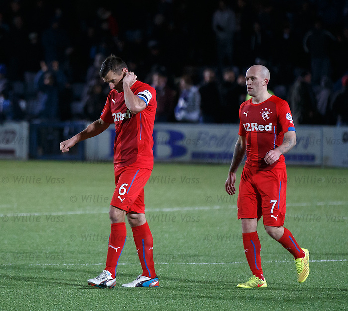Lee McCulloch and Nicky Law troop off dejected at the end