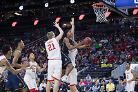 LAS VEGAS, NV - March 9, 2017: Cal Bears Men's Basketball team vs. the Utah Utes.  Final Score: Cal Bears 78, Utah Utes 75