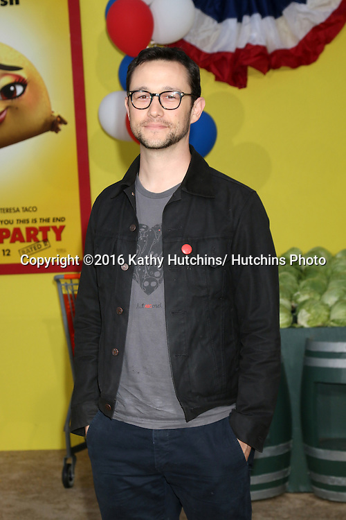 "LOS ANGELES - AUG 9:  Joseph Gordon-Levitt at the ""Sausage Party"" Premiere at the Village Theater on August 9, 2016 in Westwood, CA"