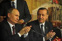 Recep Tayyip Erdogan + Vladimir Putin Bilateral Meeting Press Conference (TUR)