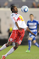 Macoumba Kandji (10)  of the New York Red Bulls controls a pass. The New York Red Bulls defeated FC Dallas 2-1 during a Major League Soccer (MLS) match at Red Bull Arena in Harrison, NJ, on April 17, 2010.