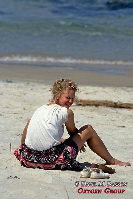 Tourist On Beach