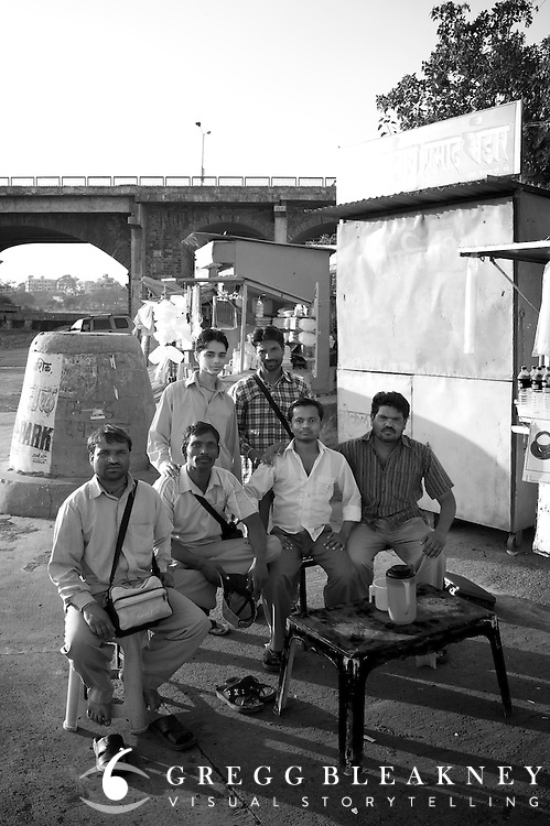 Salesmen near holy site of Godavari River - Nashik, India