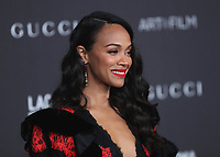 LOS ANGELES - NOVEMBER 2:  Zoe Saldana at the 2019 LACMA Art + Film Gala Presented By Gucci at LACMA on November 2, 2019 in Los Angeles, California. (Photo by PictureGroup)