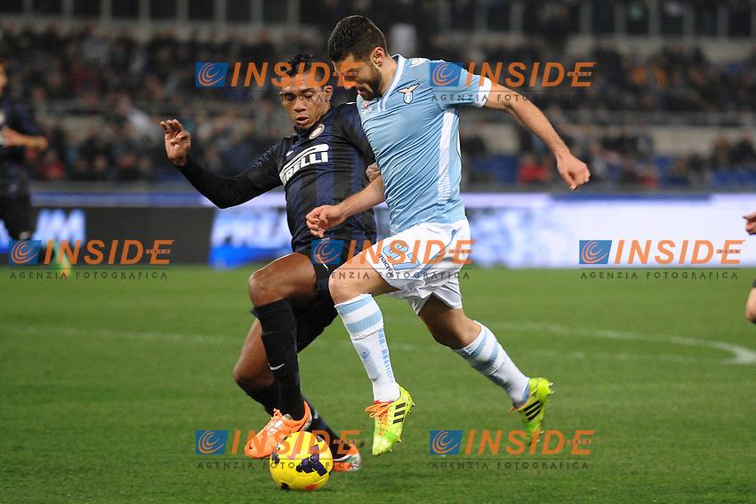 Antonio Candreva Lazio.<br /> Roma 06-01-2014 Stadio Olimpico. Football Calcio 2013/2014 Serie A. Lazio - Inter. Foto Antonietta Baldassarre / Insidefoto