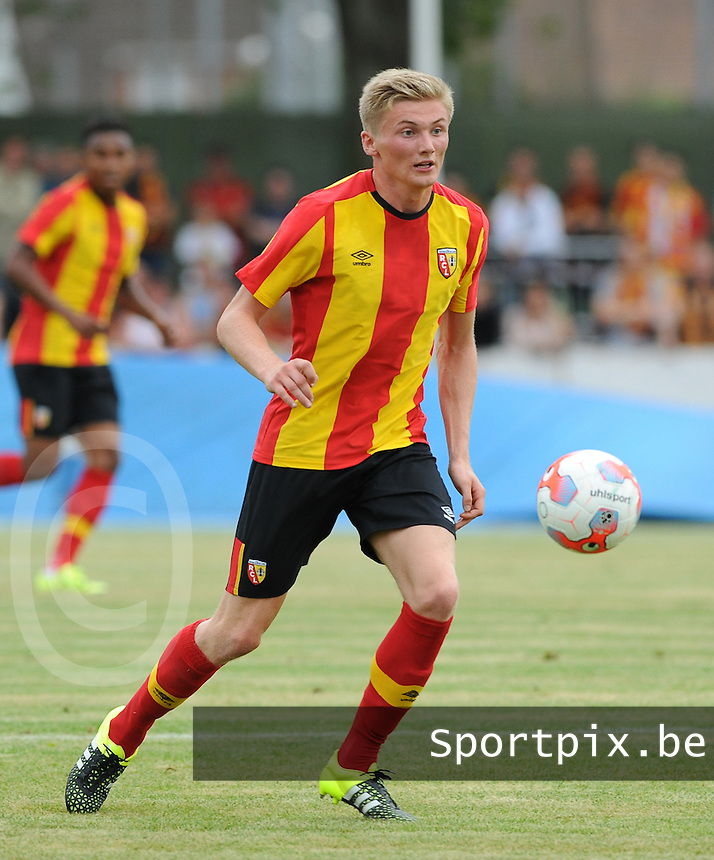 20150724 - DOUAI, FRANCE : RC Lens' Taylor Moore  pictured during a friendly match between French second division team Racing Club de Lens and Belgian second division team Royal White Star Bruxelles, during the preparation for the 2015-2016 season, Friday 24th July 2015 in Douai. PHOTO DAVID CATRY