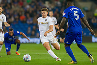 Kalvin Phillips of Leeds United during the Sky Bet Championship match between Cardiff City and Leeds United at the Cardiff City Stadium, Cardiff, Wales on 26 September 2017. Photo by Mark  Hawkins / PRiME Media Images.