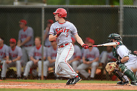 Ball State Cardinals third baseman Colin Brockhouse (9) during a game against the Dartmouth Big Green on March 7, 2015 at North Charlotte Regional Park in Port Charlotte, Florida.  Ball State defeated Dartmouth 7-4.  (Mike Janes/Four Seam Images)