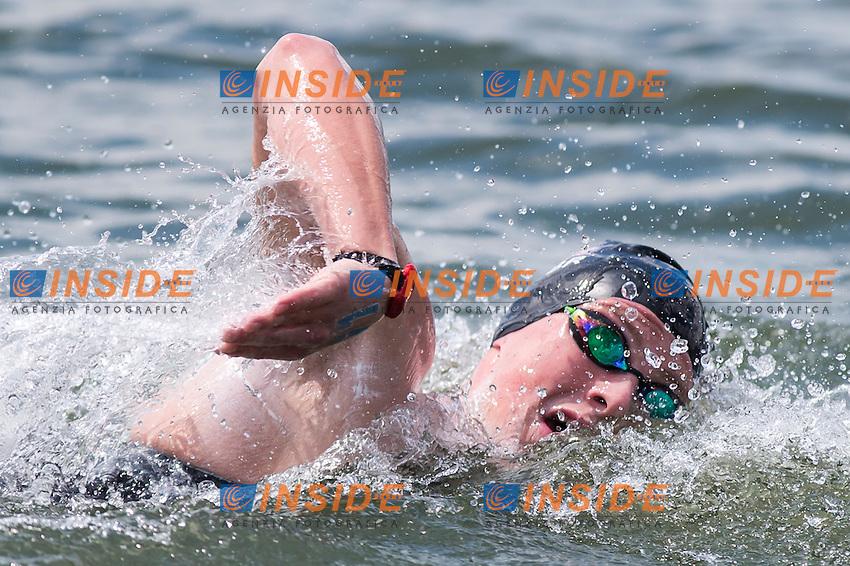 HUGHES Caleb GBR bronze medal<br /> Hoorn, Netherlands <br /> LEN 2016 European Open Water Swimming Championships <br /> Open Water Swimming<br /> Men's 5km<br /> Day 02 12-07-2016<br /> Photo Giorgio Perottino/Deepbluemedia/Insidefoto