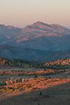 Morning alpenglow on Raymond Peak, Toiyabe National Forest, California