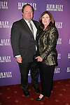 """Bob Bakish CEO of Viacom and his wife Deedra Bakish arrive at the Alvin Ailey American Dance Theater """"Modern American Songbook"""" opening night gala benefit at the New York City Center on November 29, 2017."""