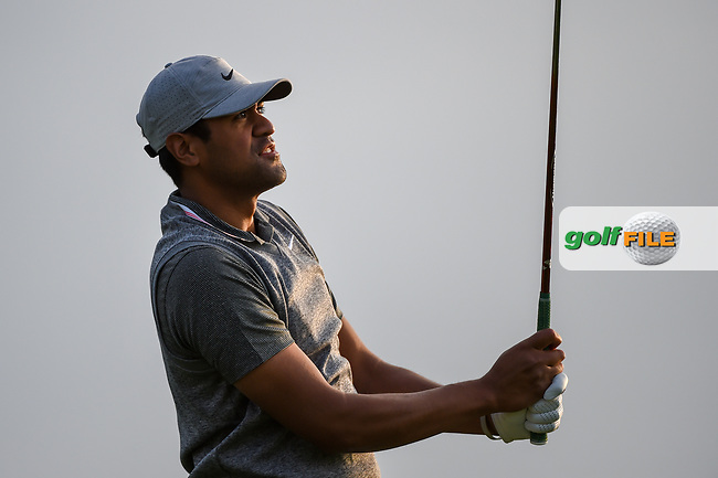 Tony Finau (USA) watches his tee shot on 11 during day 1 of the Valero Texas Open, at the TPC San Antonio Oaks Course, San Antonio, Texas, USA. 4/4/2019.<br /> Picture: Golffile   Ken Murray<br /> <br /> <br /> All photo usage must carry mandatory copyright credit (© Golffile   Ken Murray)
