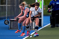 Action during the Auckland Intercity Women's top four Hockey match between Howick-Pakuranga and Somerville, Lloyd Elsmore Park, Auckland, New Zealand. Saturday 5 August 2017. Photo:Simon Watts / www.bwmedia.co.nz