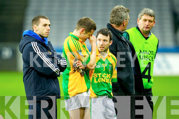 Finuge players dejected after being defeated by Cookstown Fr Rocks Tyrone in the All Ireland Intermediate Final at Croke Park on Saturday.