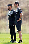 Getafe CF's coach Jose Bordalas with his second Sergio Pelegrin during training session. August 1,2017.(ALTERPHOTOS/Acero)