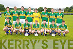 The Kerry Team who took part in the Jeremiah Kelleher Tournament in Milltown/Castlemaine on Saturday wereMichael Walsh, Conor O'Leary, Conor O'Shea, Adam Leahy, Kyle Fitzgibbon, Padraig O'Sullivan, Jonathan Deane, back, Darragh O'Sullivan, Paudie Carroll, Tom Kelliher, Fionan Clifford, Andrew O'Connor, Kevin Bowler, James McCarrick and Tony Brosnan. ..........................................................................................