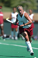 26 August 2006: Stanford Cardinal Liz Robinson during Stanford's 2-1 win against Massachusetts Amherst at the Varsity Field Hockey Turf in Stanford, CA.